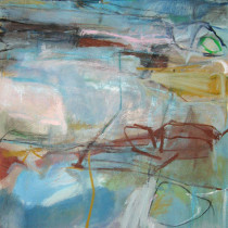 'Iridescent-Dream',-Janine-Baldwin,-123cm-x-73cm,-oil-and-charcoal-on-canvas