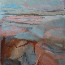 'Silent-Coast',-oil-and-charcoal-on-paper,-42-x-29cm
